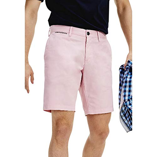 Tommy Hilfiger Herren Brooklyn Short Light Twill Loose Fit Jeans, Frosted Rose, NI33
