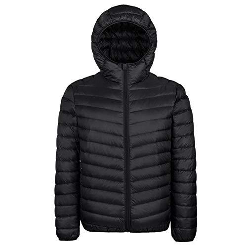 GYXYYF Witte eendendonsjack heren herfst winter warme jas heren lichtgewicht dunne eendendonsjas mantel