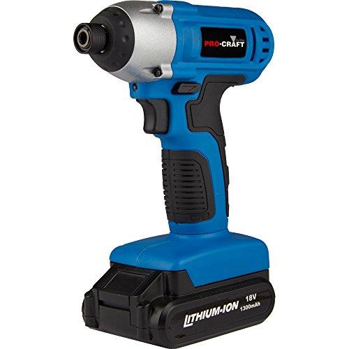 Hilka Tools HPC-0329 Pro-Craft 18V Li-Ion Cordless Impact Driver, 18 V