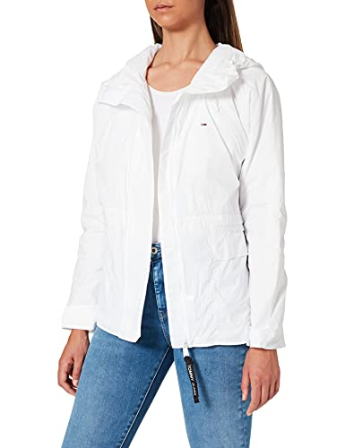 Tommy Jeans TJW Solid Windbreaker Coupe-Vent, White, X-Small Femme