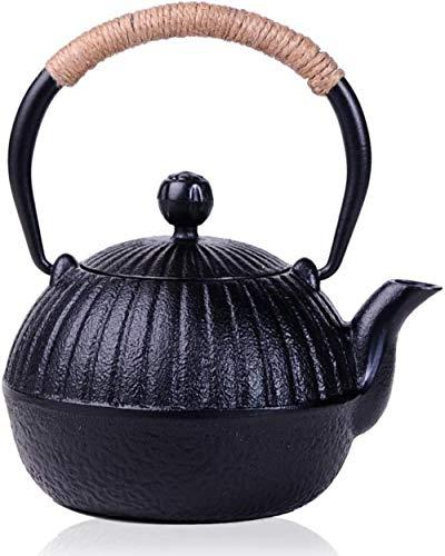 Tetera Calabaza Tea Pot Temperatura de oxidación sin Recubrimiento de Hierro Fundido de té hogar fácil de Usar / 550ml (Color: como se Muestra, Tamaño: 550 ml), Tamaño: 550 ml, Color: