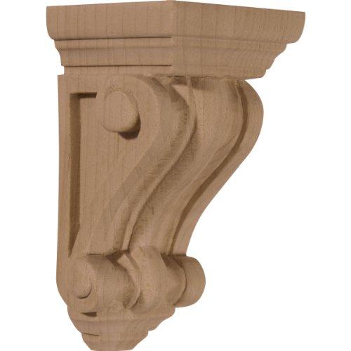 Ekena Millwork CORW02X02X04DECH 2 1/4-Inch W x 2 1/4-Inch D x 4 1/4-Inch H Devon Traditional Wood Corbel, Cherry