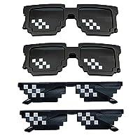 Sicheres Material: Diese Pixel-Sonnenbrille besteht aus hochwertigem Kunststoff, ist leicht und sicher, ungiftig und geschmacklos, angenehm zu tragen und schadet Ihrer Haut nicht. Angenehm zu tragen: Leichte, rutschfeste Gummi- Nase, ist bequem für l...
