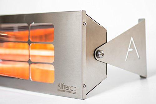 Alfresco Heizstrahler – ALF25 99cm lang, mittelwelliger elektrischer Infrarot- Heizstrahler mit 2.5 Kilowatt für Aussenbereich - 6