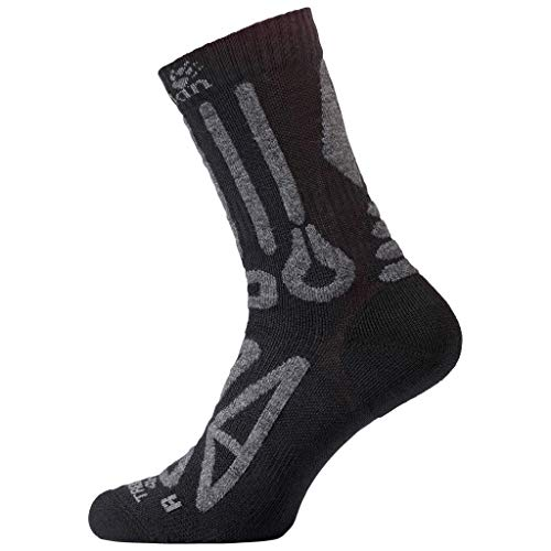 Jack Wolfskin TREKKING MERINO CLASSIC CUT Socken, black, 44-46