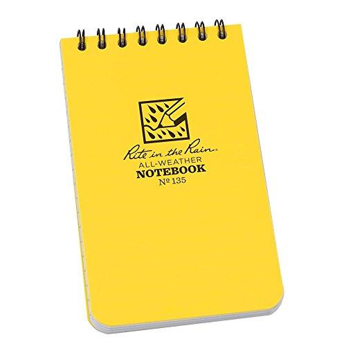 Rite in the Rain TGRR-135-H 3 po x 5 po Haut-Spiral Notebook