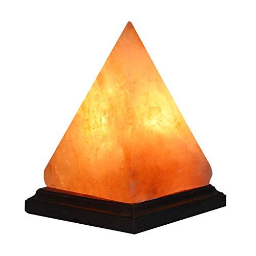 Pyramidendesign Kristalldekrempel mit Rosenholzbasis Natürliche Himalaya-Salzlampe mit Dimmabable Switch