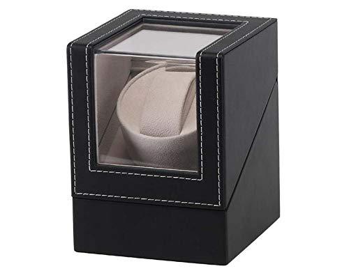 OSVINO Uhrenbeweger für Automatikuhren PU Leder 1 Uhr leise edel mit Glashütte, Schwarz