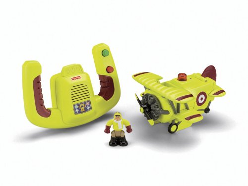 Fisher-Price Transportation System Remote Control Bi-Plane with Loopy Loco & Darren
