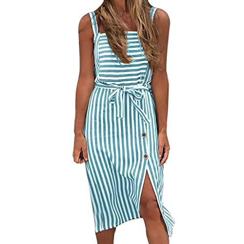 Damen Kleider Sommer O Ausschnitt Ärmellos Sexy Strandkleid Jeanskleid Kleid Großer Größe Kleid...