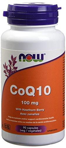 NOW CoQ10 100mg w/Hawthorn 90 Veg Capsules, 50 g