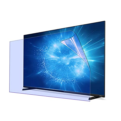 KELUNIS Protector De Pantalla De TV Antideslumbrante, Película De Filtro Anti Luz Azul para Pantalla De TV Tasa Antirreflectante De hasta 90% Aliviar La Fatiga Ocular para LCD, LED,49' (1075 * 604)