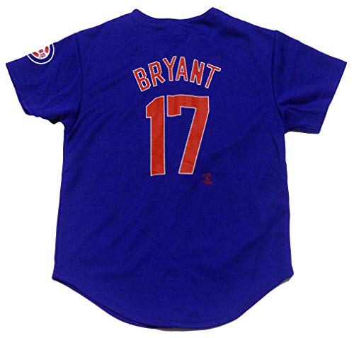 Outerstuff Kris Bryant Chicago Cubs #17 Blue Youth Player Fashion Jersey (X-Large 14/16)