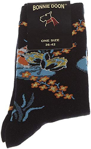 Bonnie Doon Lotus Damen Socken (Black)