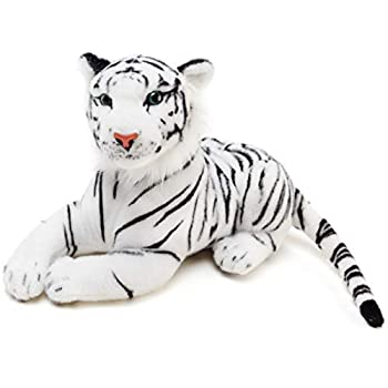 Saphed The White Tiger - 17 Inch  Tail Measurement Not Included  Stuffed Animal Plush - by Tiger Tale Toys