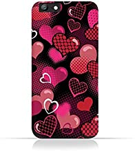 Oppo A57 TPU Silicone Case With Valentine Hearts seamless Pattern