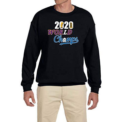 Tobin Clothing Black Los Angeles 2020 World Champs Crewneck Sweatshirt Adult XL