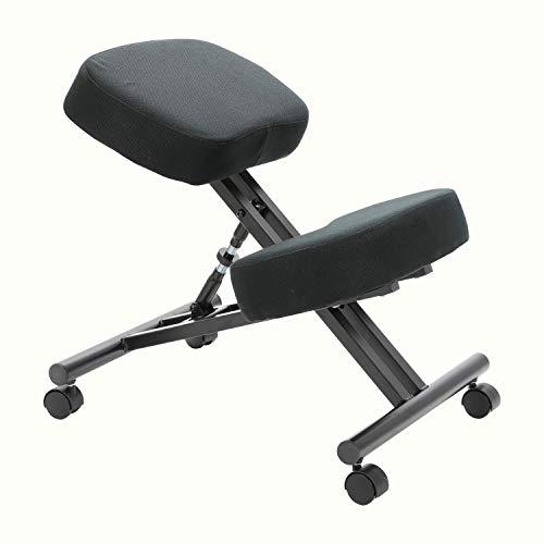Silla ergonómica de rodillas, silla correctiva de postura, silla inclinada, taburete ajustable con cojín de espuma moldeada y rueda para el hogar y la oficina