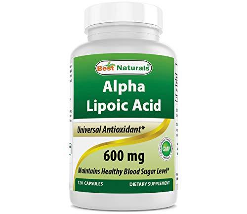 Best Naturals Alpha Liopic Acid 600 mg 120 Count - ALA Alpha Lipoic Acid Powerful Antioxidant