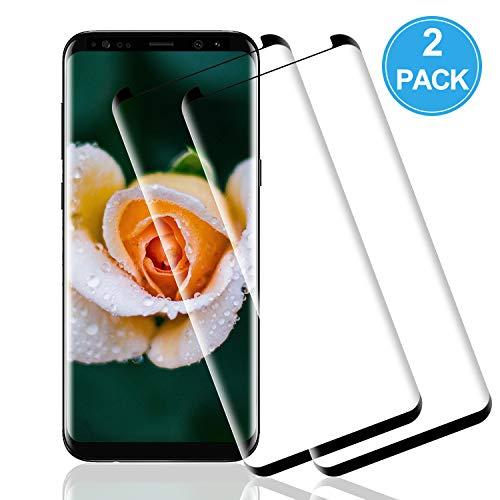 Wiestoung Protector de Pantalla de Vidrio Templado para Samsung Galaxy S8 Plus, [2 Piezas] 3D Curvo Full-Cover Cristal Templado para S8 Plus, Sin Burbujas,Resistente a Arañazos,Anti-Aceite