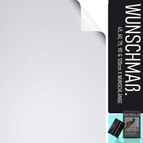 SA ROCA® [6,65€/m² Fensterfolie selbsthaftend Blickdicht [75cm x WUNSCHLÄNGE - bis 50m] Milchglasfolie selbstklebend I Statische Sichtschutzfolie Fenster I Milchglas Fenster Folie Sichtschutz
