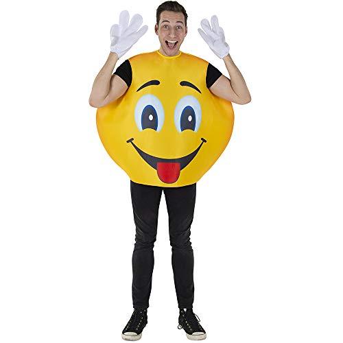 Dress Up America Disfraz de Emoji Sonriente, Multi, Talla nica Unisex Adulto