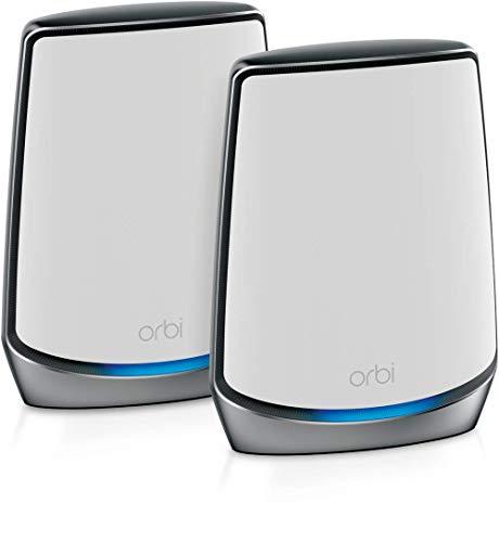 NETGEAR メッシュWiFi無線LANルーター2台セット Wi-Fi6(11AX) 速度AX6000 トライバンド RBK852 (ルータ―+サ...