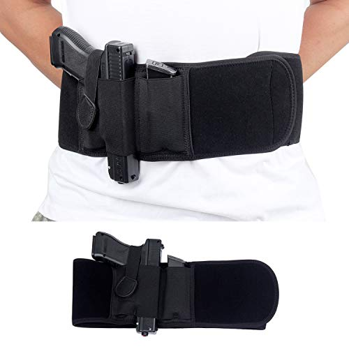 Gandecor Belly Band Holsters Concealed Carry,Waistband Belt for Running,Black