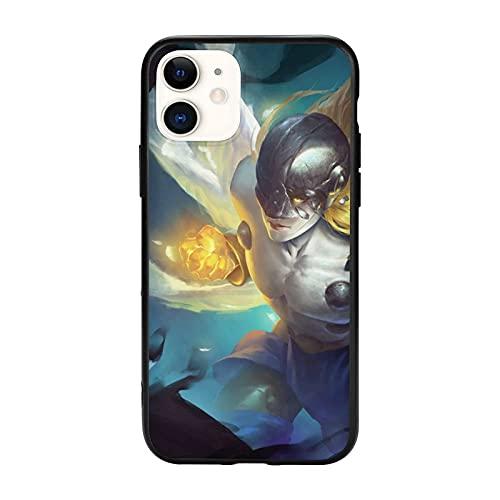 Compatibile con iPhone 12/12 11 Pro Max mini X/XS Max XR 8 7 6 6s Plus SE Caso Samsung S21 Ultra Black Custodie per cellulari Cover Angemon Digimon