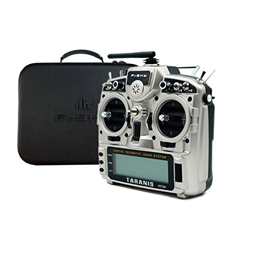 FrSky Taranis X9D Plus 2019 Access ACCST 2.4G 24CH Radio Transmitter-Silver (with EVA Case)