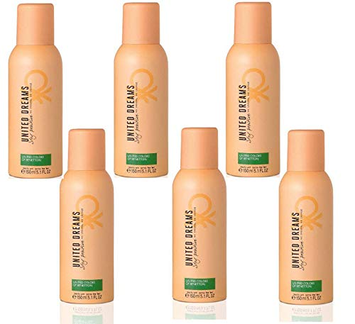 Benetton United Dreams Deo Spray 150ML. Pack de 6