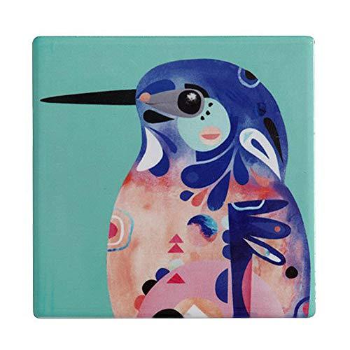 Maxwell & Williams Pete Cromer Sottobicchiere Quadrato in Ceramica 9,5 cm Kingfisher