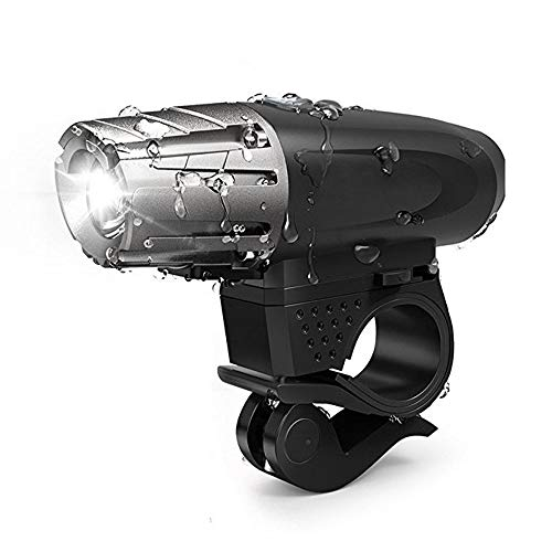 JUZIPI Juego de luces LED para bicicleta de montaña, recargables, USB, IPX5, impermeable, 3 modos de luz, para bicicleta de montaña y bicicleta