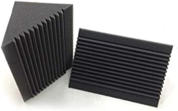 JVSISM 6 PCS Acoustic Foam Charcoal/Black Bass Trap Sound Absorption Studio Soundproofing Corner Wall 12 x 12 x 24 cm