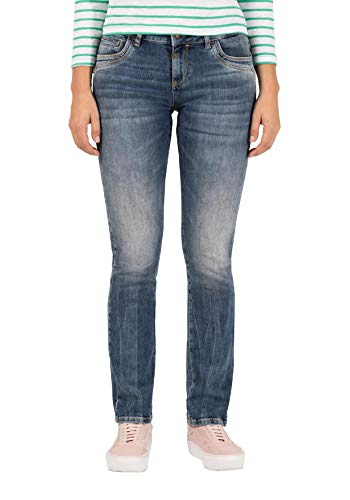 Timezone Damen Slim TahilaTZ Jeans, Blau (Blue Worn wash 3264), W28/L32