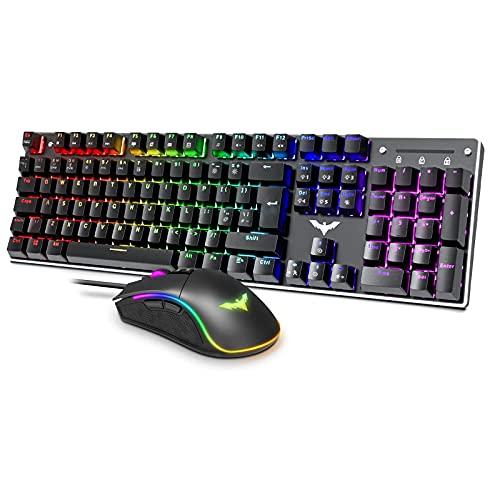 havit Gaming Keyboard Mouse Set UK Layout (HV-KB432Lcombo)