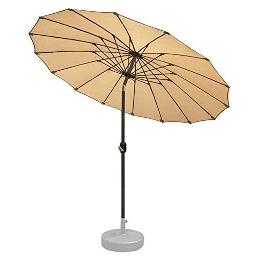 YYCHJU Parasole para Terraza Jardín Playa Balcón Piscina Parasol de jardín Sombrillas, Paraguas del Sol de 2.5 m de Patio con manivela, Mecanismo de inclinación Ajustable, para jardín balcón Piscina