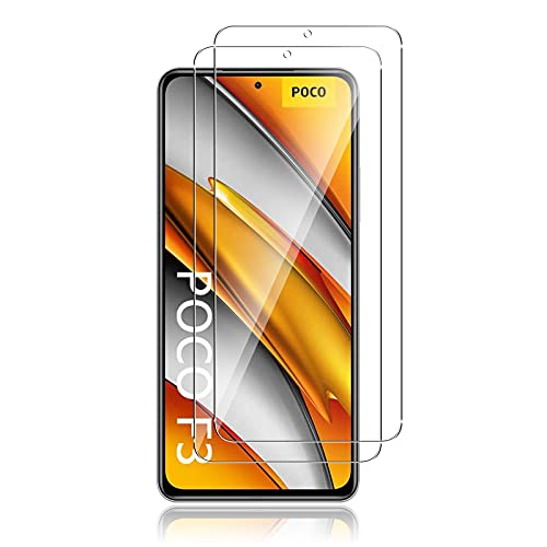 QULLOO Panzerglas Schutzfolie kompatibel mit Xiaomi Mi 11i 5G / POCO X3 GT 5G / Poco F3 / Redmi Note 10 Pro,[2 Stück] HD Klar Bildschirmschutz Glas Folie Ultra Dünn Bildschirmschutzfolie