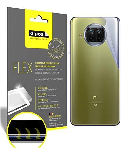 dipos I 3X Protector de Pantalla Compatible con Xiaomi Mi 10T Lite Trasero - Cobertura 100% para Pantalla I 3D Full Cover láminas Protectoras