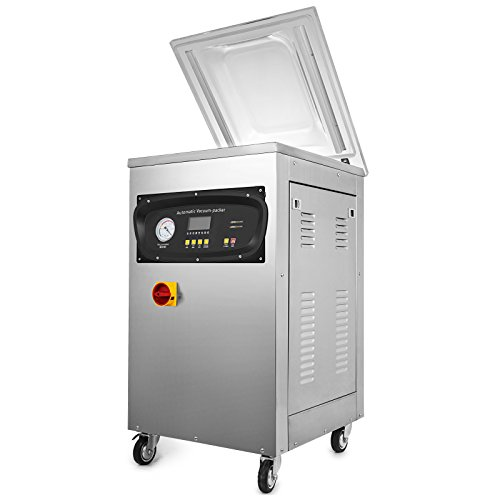Mophorn Folienschweißgerät Edelstahl Professioneller Vakuumierer Kommerzielle Vakuumverpackungsmaschine für Lebensmimittel (DZ-400)