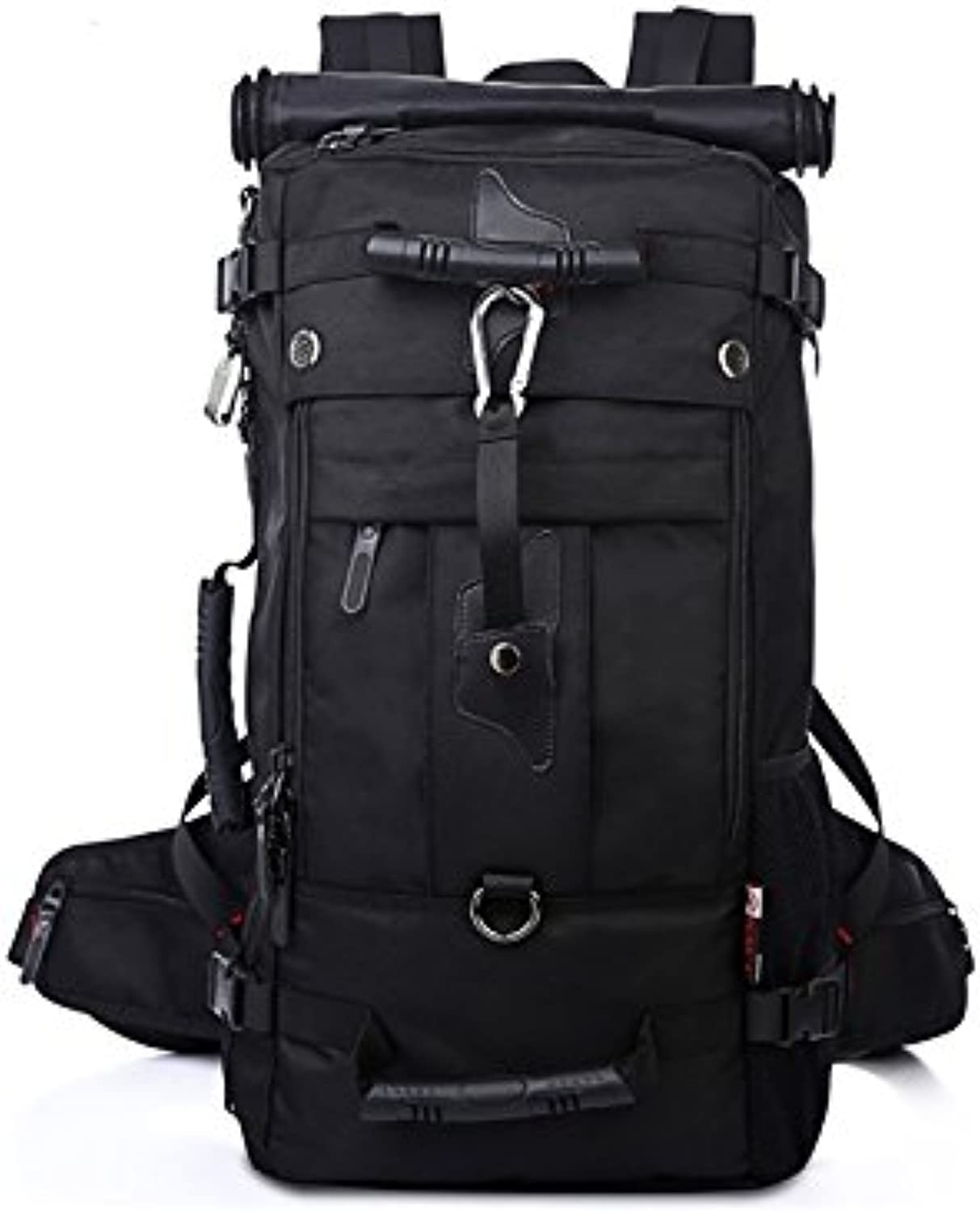 Outdoor Men's Outdoor Sports Oxford Cloth Multifunctional Waterproof Hiking Climbing Bag(Black) for Hiking