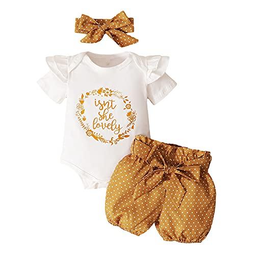 Set di 3 pagliaccetti per neonata + pantaloncini Bloomer + fascia bianco 12 Mesi
