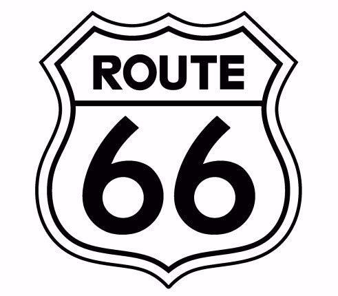 uytrew Amerikanische Traumstraße Mutter Straße Route 66 Logo Zeichen Abzeichen Wandaufkleber Schlafzimmer Wohnzimmer Büro Wohnkultur Vinyl Aufkleber Kunst Wandbild Poster