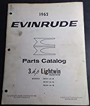 1962 EVINRUDE OUTBOARD MOTOR LIGHTWIN 3 HP P/N 278376 PARTS MANUAL (920)
