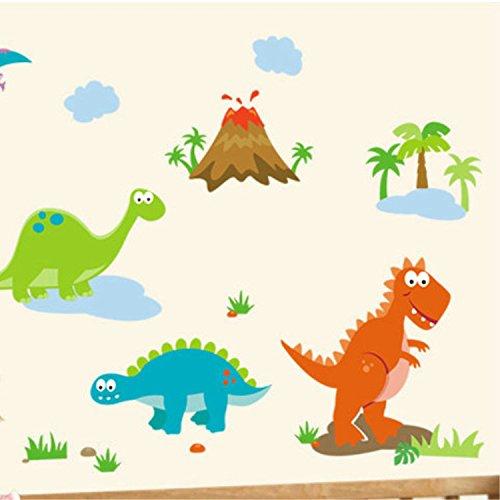BB.er Mural cute cartoon dinosaur world coucher enfants maternelle mur étanche amovible Sticker décoratif protection de l'environnement