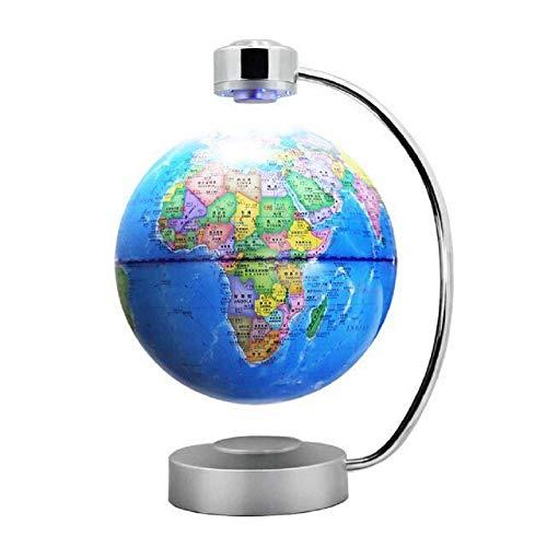 Sich heen en weer beweegbare wereldbolkaart, creatieve anti-tigravitatie drijvende bolvorm, de decoratieve magnetische zweeftechniek met kleurrijke LED verlichte bureaudecoratie, cadeaus voor de kinderen