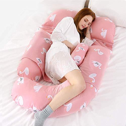 Coussin de maternité de type G Coussin d'allaitement en coton multifonctions Surtension surdimensionnée sur le ventre Taille Coussin de sommeil latéral Coussin amovible confortable pour mère, A