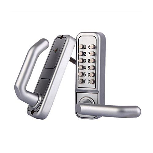 LOVIVER Mechanisch Digitale Türschloss Codeschloss Zutrittskontrolle - OS600A mit Alarm