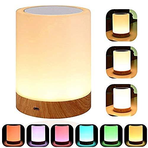 Smart Sleep and Wake Up Light Nachttischlampe, tragbares Nachtlicht mit dimmbarem, warmweißem Licht & Farbwechsel Geschenke