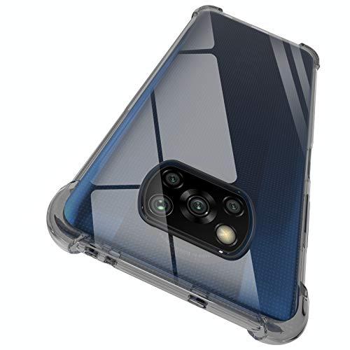 ORNARTO Funda Poco X3 Pro,X3 NFC Carcasa Silicona Transparente Protector TPU Airbag Anti-Choque Ultra-Delgado Anti-arañazos Case Caso para Teléfono Xiaomi Poco X3 Pro/NFC 6,67' Negro